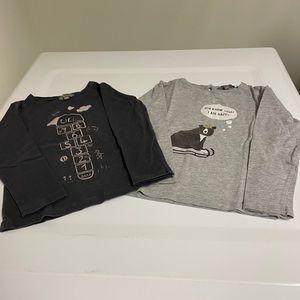 Lot of 2 Emile et Ida T-shirt's size 2/3